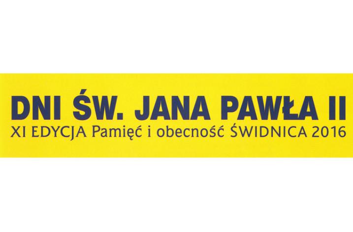 Dni Św. Jana Pawła II, Pamięć i obecność – Świdnica 2016