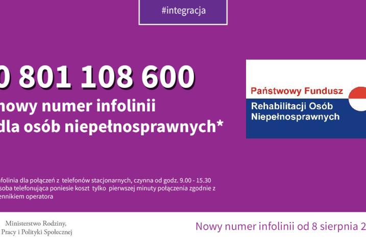 Nowy numer infolinii dla osób niepełnosprawnych