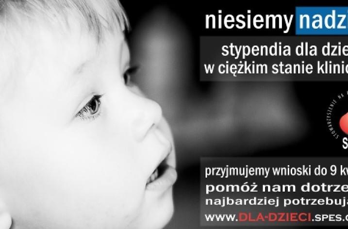 Stypendia dla rodzin z dziećmi w ciężkim stanie klinicznym
