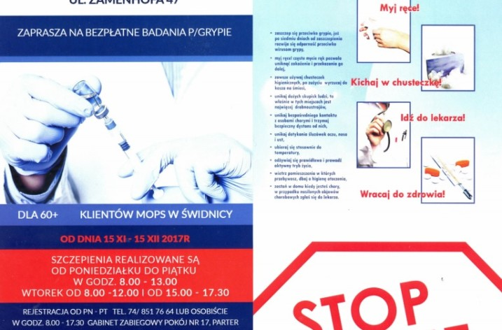 Bezpłatne badania przeciwko grypie