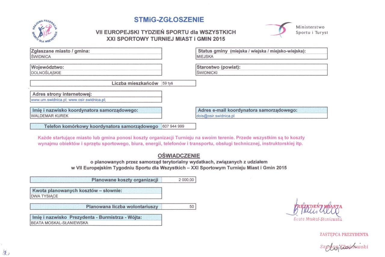 formularz STMiG - zgłoszenie